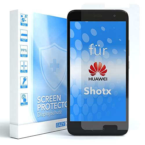EAZY CASE 1x Panzerglas Bildschirmschutz 9H Härte für Huawei ShotX, nur 0,3 mm dick I Schutzglas aus gehärteter 2,5D Panzerglasfolie, Bildschirmschutzglas, Transparent/Kristallklar