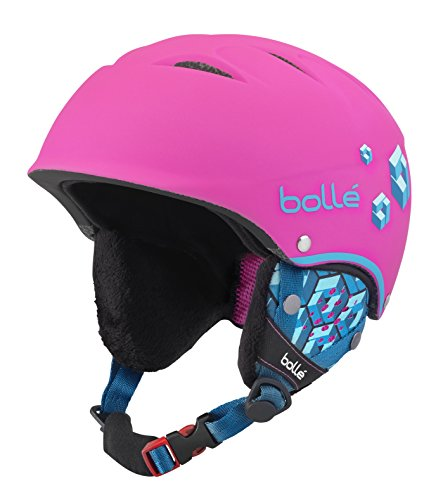 Bollé 31468 Cascos de Esquí, Niñas, Rosa (Soft Neon Pink Blocks), 49-53 cm