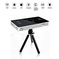 OTHA Android 5.1 Mini Projector 4K Playback, RAM 2GB DDR3 Portable DLP LED Home Theater with Keystone Correction, HDMI IN&WIFI Wireless Connectivity, Touch Screen (Black)