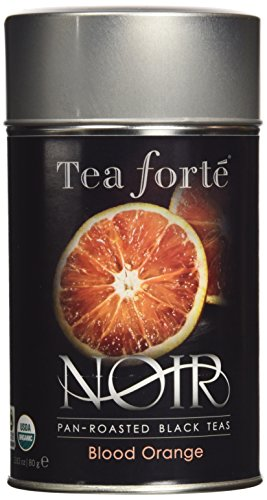 TEA Fortè NOIR BLOOD ORANGE BIO black tea latta 80g tè nero arancia rossa