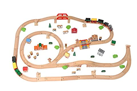 Tidlo Wooden Train Set (100