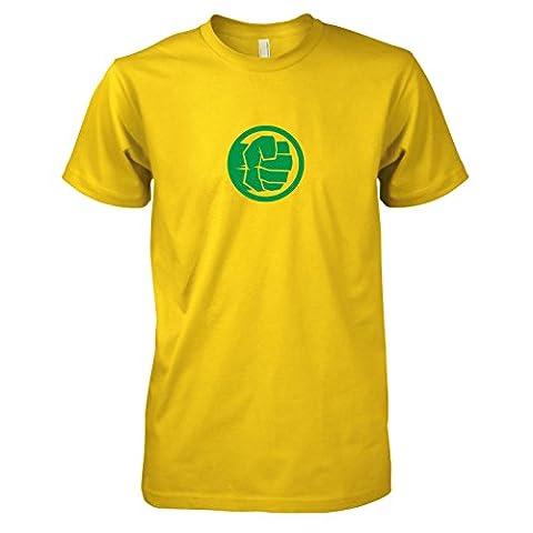 TEXLAB - Smashing Fist - Herren T-Shirt, Größe XXL, gelb (Herr Unglaubliche Kostüm-t-shirt)