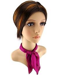 TigerTie Damen Chiffon Nickituch verschiedene Farben Gr. 50 cm x 50 cm - Tuch Halstuch Schal