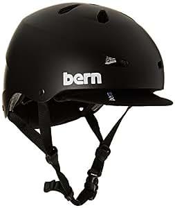 Bern Men's Macon Thin Shell EPS Helmet with Visor - Matte Black, Large/X-Large/57-60 cm
