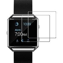 Protection écran Fitbit Blaze, JETech Lot de 2 Protecteur d'écran Film en verre trempé Premium pour Smart Watch Fitbit Blaze
