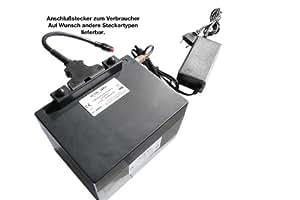 24V / 10AH Golfrechargeable battery (LiFe - LiFePo4) + charger + Tragetasche, Komplettset