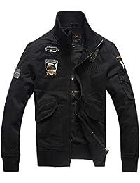 Men 's Uniformes delgados de la chute de la veste du loisir de la veste de la veste du jeu du coton ()