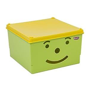 Play Box receipt boite de rangement en vert avec motif, 16 Ltr