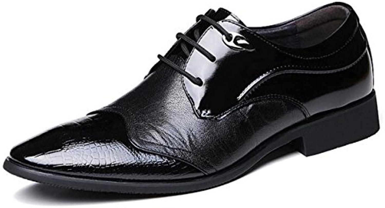 LYZGF Hombres Jóvenes Negocios Casual Gentleman Boda Moda Encaje Zapatos De Cuero  -