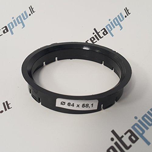 4x Set Felgen Zentrierringe 64,0 mm auf 58,1 mm Alufelgen
