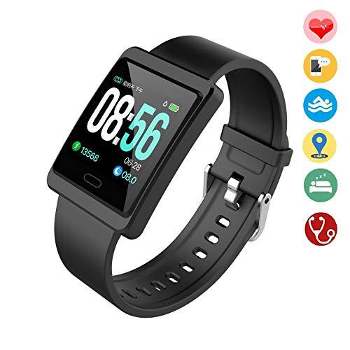 Fitness Tracker Schermo a Colori con Avviso del Ciclo mestruale Cardiofrequenzimetro Pedometro Calorie Monitoraggio del Sonno IP67 Impermeabile Orologio Bluetooth per Android iOS per Donna Uomini