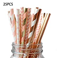 Runrun Colorful Drink Paper Straws Birthday Vent Party Decor Supplies Theme Polka Baby Shower