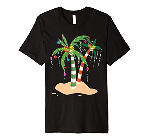 Verziert Weihnachts Palm Tree Tropical Coconut T-Shirt
