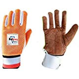 HeadTurners Ultimate Velvet Leather Palm Cotton Padded Wicket Keeping Inners Gloves for Boys, Youth and Mens (Colour May Vary)