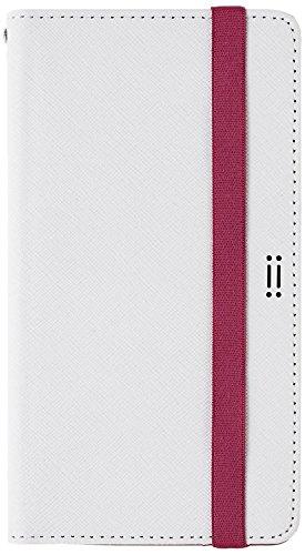 Aiino quotidien universel Smart Étui portefeuille à rabat avec porte-cartes pour téléphone portable, blanc/rose, 5.8 inch blanc/rose