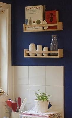 IKEA 4 Wooden Spice Rack - Nursery - Book Holder - Kids Shelf - Kitchen - Bathroom Accessory - Storage Organizer - Birch Natural Wood - BEKVAM by IKEA