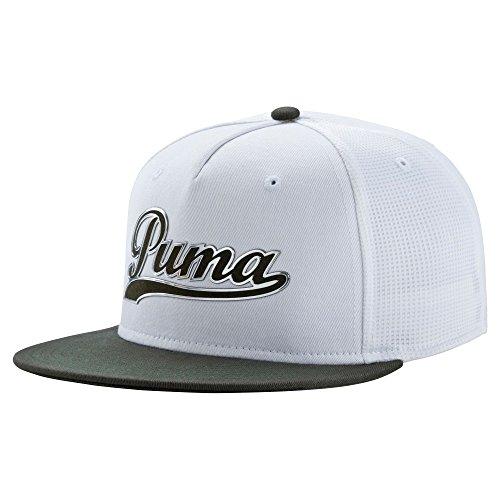 Puma golf- Script Snapback Cap, Herren, Weiß/Grau (Golf-hut Puma)