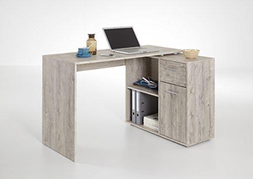 "Cheapest FMD ""Albrecht"" Corner Combination Desk, Wood, Sand Oak"