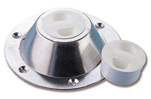 Tappo bianco in plastica mm 60 per base tavolo barca (065370)