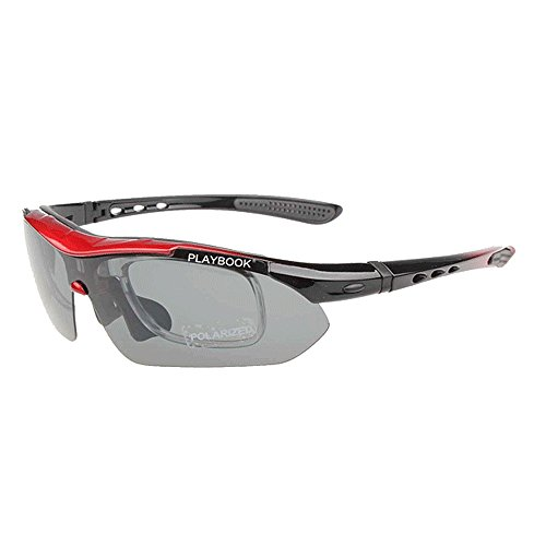Stilvolle polarisierte Sonnenbrille Männer polarisierte Sport-Sonnenbrille mit austauschbaren Objektiven 5pcs im Freien Radfahren Baseball-laufendes Fischen, das Golf fährt Fahrerschutz für Männer