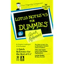 Lotus Notes 4.5 for Dummies Quick Reference