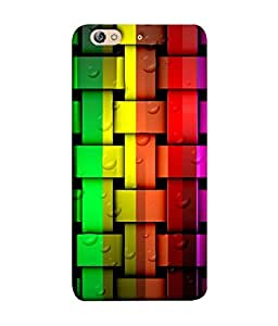 PrintVisa Designer Back Case Cover for Gionee Elife S7 (Colourful Stripes With Water Bubbles)