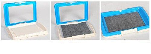 Delmkin Hundetoilette Welpentoilette Hunde Sauberkeitserziehung – 47 x 34 x 5.5cm (rosa) - 4