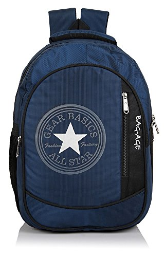 Bag-Age Allstar College School Backpack (Dark Blue)