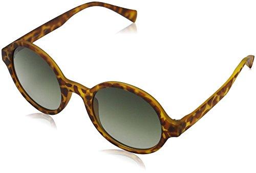 MSTRDS Unisex Retro Funk Sonnenbrille, Mehrfarbig (havanna/green 5153), Herstellergröße: one Size