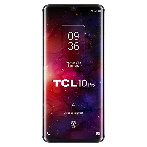 "Oferta de TCL 10 Pro - Smartphone de 6.53"" FHD+ con NXTVISION (Qualcomm 675 4G, 6GB/128GB Ampliable MicroSD, Cámaras de 64MP+16MP+5MP+2MP, Batería 4500mAh, Android 10 actualizable) Color Negro"