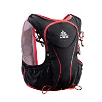Azarxis Hydration Pack Backpack 5L Outdoors Marathoner Running Race Hydration Vest - Hiking, Biking, Outdoor (Black (L-XL) - Only Backpack)