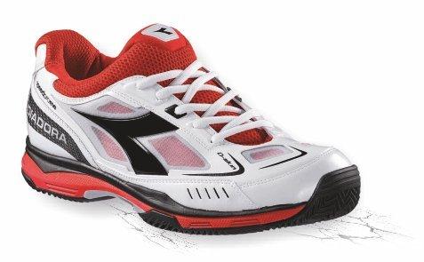 Diadora Scarpe da tennis Speed Pro Me UVP 120. -, weiß-rot-schwarz, 44