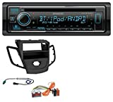caraudio24 Kenwood KDC-BT530U AUX MP3 Bluetooth USB CD Autoradio für Ford Fiesta JA8 08-10 ohne Display schwarz