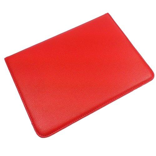 360 Grad drehbar mit AUFSTELLFUNKTION Schutzhülle Schutztasche Tablethülle Tasche Hülle für Samsung Galaxy Tab 8.9 Zoll, rot