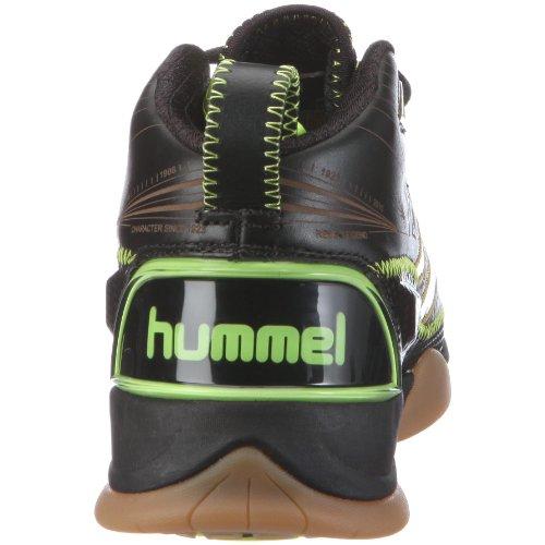 Hummel REBEL LEGEND MID 60160 Unisex - Erwachsene Sportschuhe - Handball Schwarz/Ebony/Black/Neon Yellow