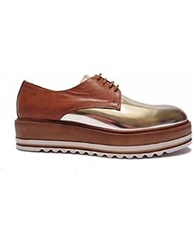 scarpe Donna ANTICA CUOIERIA da in pelle col. altezza zeppa cm.num.