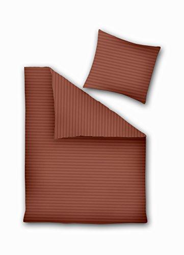 155x220 Bettwäsche Bettwäscheset mit 1 Kissenbezug 80x80 braun schokolade Bettbezüge Microfaser Bettwäschegarnituren2 tlg 155 cm x 220 cm Prestige (Schokolade Braun Bettbezug)