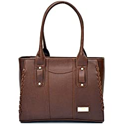 INKDICE Premium brown faux leather Handbag for Women