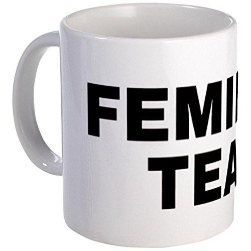 Diseño único de la taza tazas de lágrimas feminista CafePress fuente grande - S blanco, cerámica, blanco, small