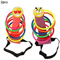 YMero Bachelorette Party Head Ring Toss Game Toy Set Pin the Junk on the Hunk Pecker Ring Toss Hen Party Stag Game Party Favors Novelty Toys