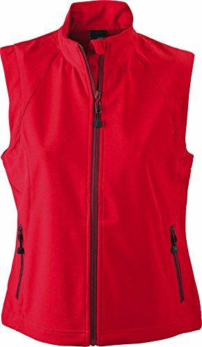 Modische Softshellweste für Damen, Farbe:red;Größe:M