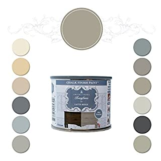 Amitha Verma Chalk Finish Paint, No Prep, One Coat, Fast Drying | DIY Makeover for Cabinets, Furniture & More, 4 Ounce, (Latte Beige) by Amitha Verma