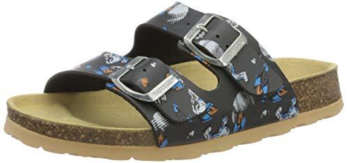 Superfit Jungen Fussbettpantoffel_8-00111-00 Pantoffeln, Grau (Stone Multi 07), 34 EU