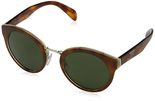 Prada Damen 0PR05TS TH71I0 53 Sonnenbrille, Weiß (Light Havana/Striped White/Green),