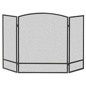 Panacea Pantalla de Arco de 3 Paneles, Metal, Negro, 62.2 x 3.8 x 74.400000000000006 cm