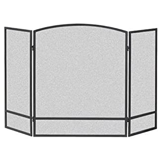 Panacea 3 Paneles de Pantalla de Arco, Metal, Negro, 62,2 x 3,8 x 74.40000000006 cm