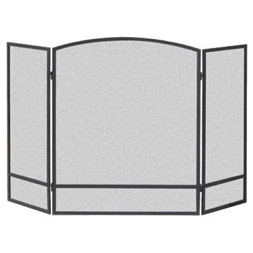Möbel-kamin-bildschirme (Panacea 3 Panel Arch Screen, Metall, schwarz, 62.2 x 3,8 x 74.400000000000006 cm)