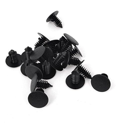 TOOGOO 20 pcs de Rivets en plastique noir de 8mm
