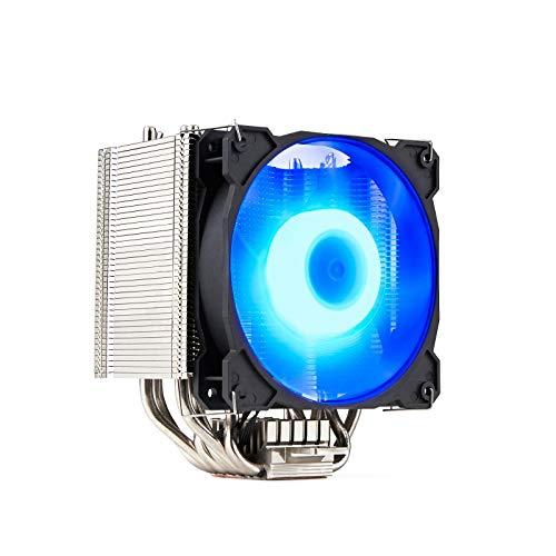 GELID Sirocco - Hochleistungs-Tower-CPU-Luftkühler mit PWM-RGB-Lüftern | 6 U-Staked Power Heat Pipes | Fortschrittlicher kupferbasierter Kühlkörper | Hochwertige Vernickelung | TDP 200W -