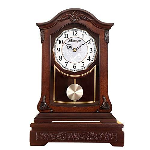 reloj de mesa Reloj de escritorio - Reloj de madera maciza retro ...